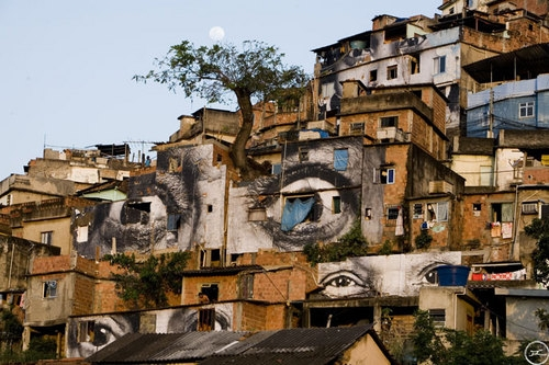Wooster Collective: JR In The Favelas Of Rio