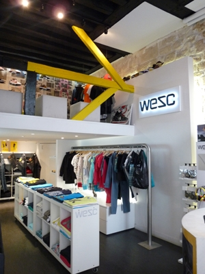 WeSC store Paris 1 st floor