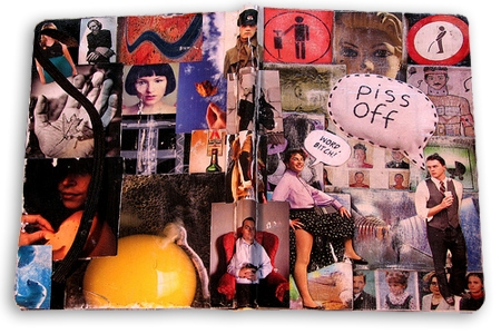 collage moleskine cover