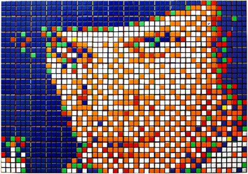 rubikcubism: orange mecanique