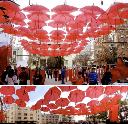 Umbrella Installation - University of Talca