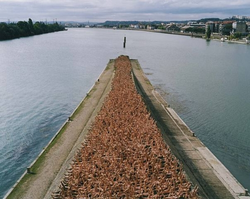 Spencer Tunick (Biennale de Lyon) 2005