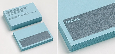sky color & gray businesscards