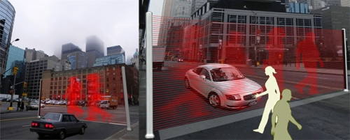 Laser Wall Replaces Traffic Light | Gadget Lab | Wired.com