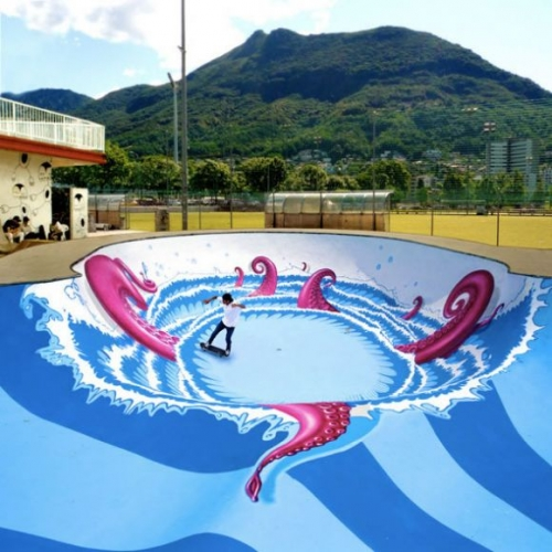 What is the Octopus doing in a Skate Park?