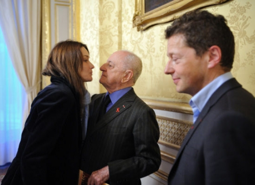 Carla Bruni and Pierre Bergé