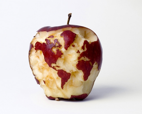 Apple Globe by Kevin Van Aelst