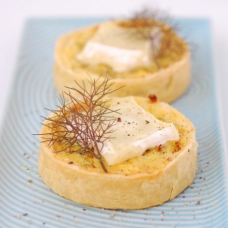Fennel, Onion & Goats Cheese Tarts