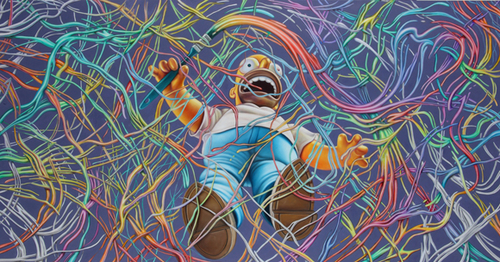 Ron English Paints High-Speed Homer Simpson | Design You Trust. World's Most Provocative Social Ins
