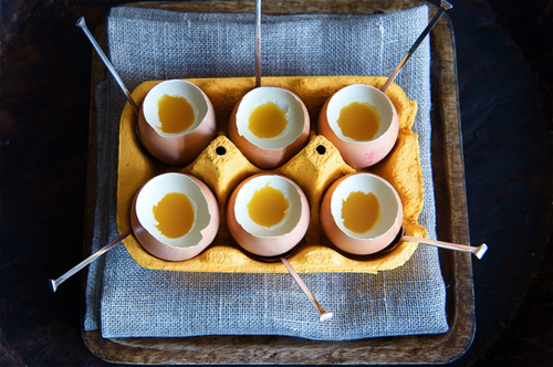 Coconut Panacotta and Passion Fruit Eggs