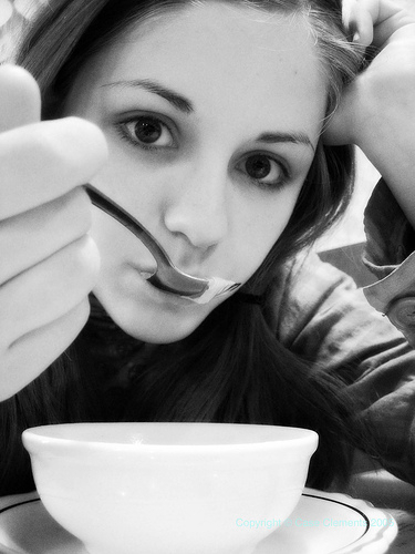 Girl Eating Soup