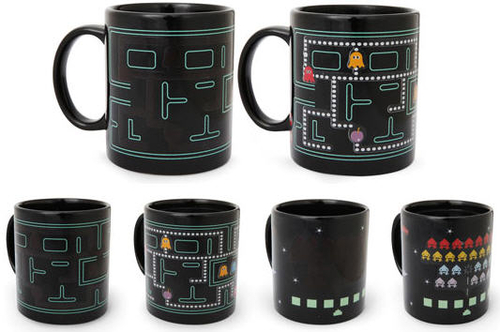 Heat-Changing Arcade Mugs Spice Up Your Morning Coffee With Pacman And Space Invaders @grat
