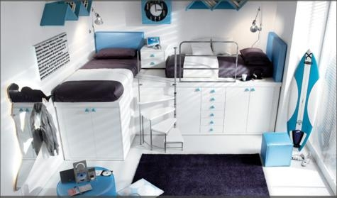 Space saving loft bed collection small space loft bed collection - Rooms for small spaces collection ...