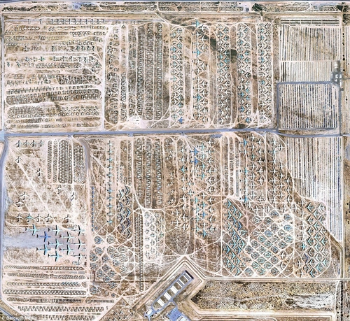 Massive £22billion air force scrap yard revealed in high resolution by Google Earth | Mail Online