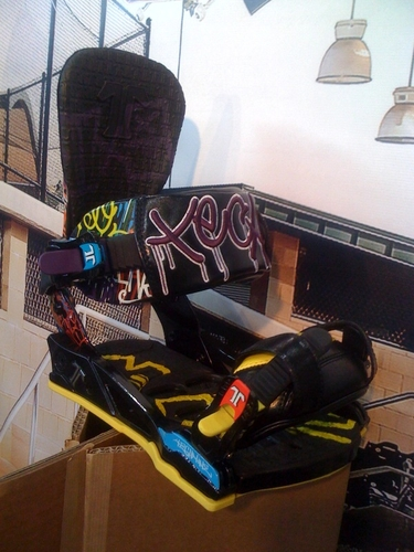 #snowboard #fixation #technine