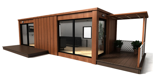 Bureau container bardage bois multispacegroup monaco un for Amenager un container