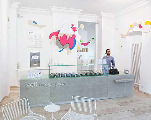 FFFFOUND! | Yoli // The first frozen yogurt shop in Berlin | yatzer | Design Architecture Art Fashio