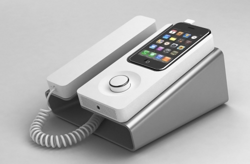 Desk Phone dock for iPhone «  Whitezine | inspire Create and Share