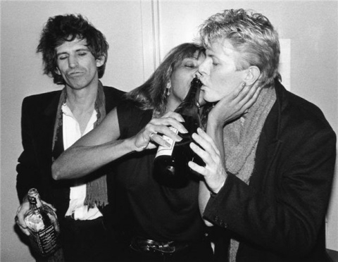 Keith Richards, Tina Turner and David Bowie having great time