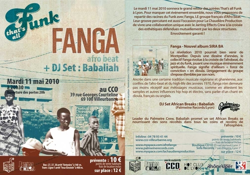 FANGA + Dj Babaliah | 11 mai 2010 | That's all Funk