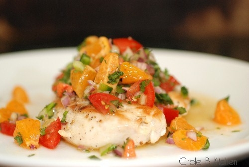 Sauteed Chicken with Clementine Salsa