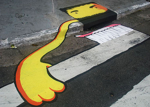 The street art in Brazil is continuing to amuse people »  This Blog Rules | Why go elsewhere?