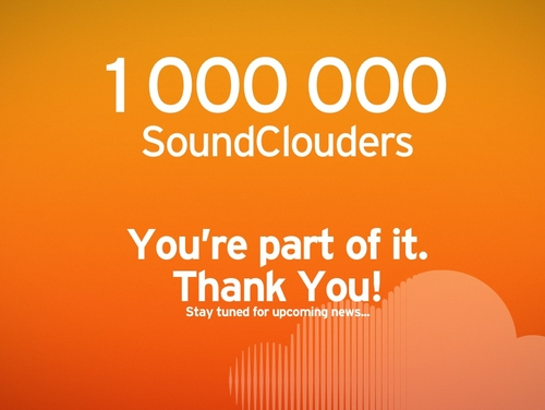 1 000 000 SoundClouders – Thanks A Million! | SoundCloud