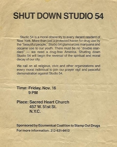 SHUT DOWN STUDIO 54