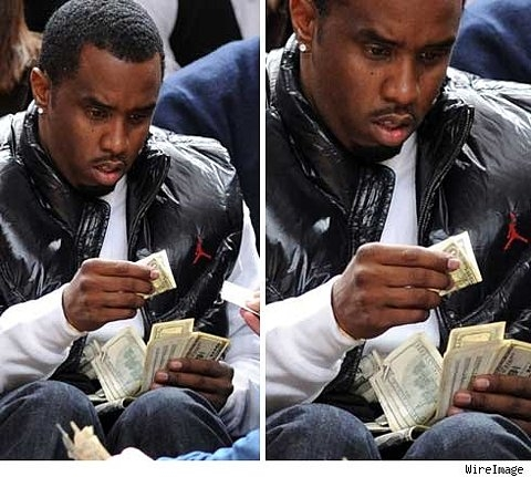 Diddy's Wad Infiltrated by Pathetic One Dollar Bill