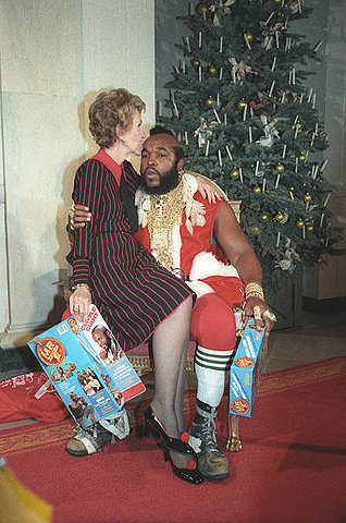 Nancy Reagan & Mr T