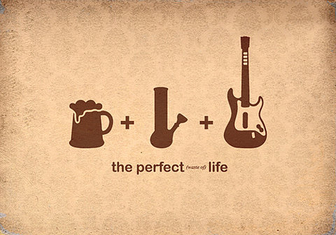 the perfect (waste of) life !