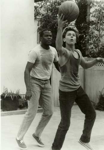Sidney Poitier and River Phoenix