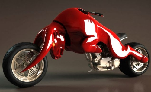 Amazing Bull-Shaped Motorbike