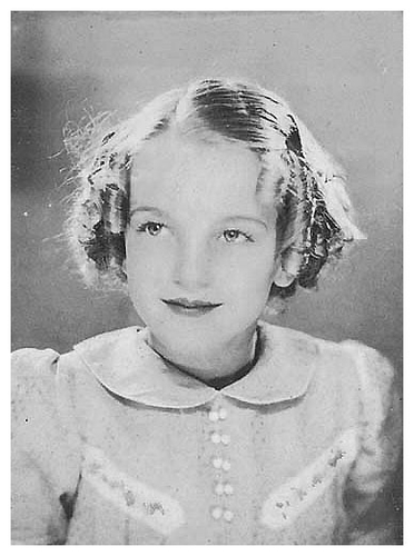 Norma Jean Baker (Marilyn Monroe) as a little girl