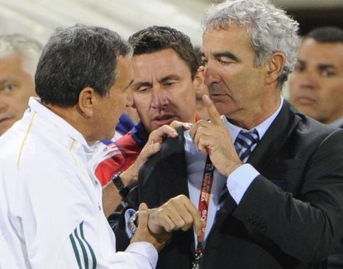 Incident: Domenech refuse de saluer Parreira !