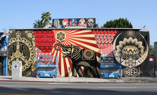 Shepard Fairey, Melrose Ave, Los Angeles - unurth