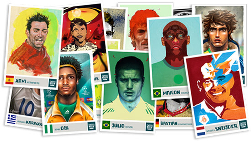 Fun virtual stickers for World Cup made by artists around the world »