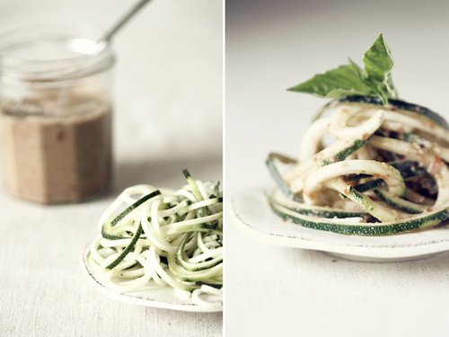 Zucchini Pasta with Heirloom Tomato and Lemon-Basil