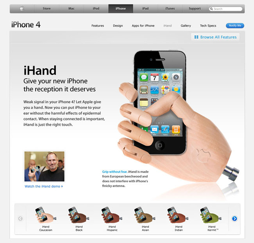 iHand Will Solve All Your iPhone 4 Reception Issues