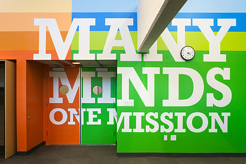 FFFFOUND! | New Work: Achievement First Endeavor Middle School | New at Pentagram | Pentagram