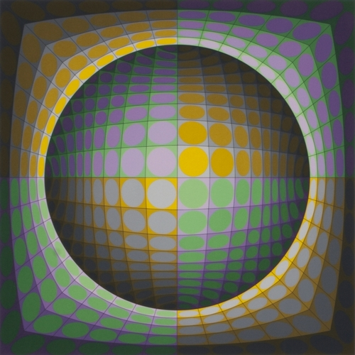 Expertissim : Victor VASARELY (1906-1997) : Composition cinétique.