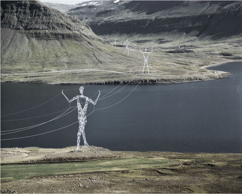 Choi + Shine Architects - The Land of Giants - Icelandic High-Voltage Electrical Pylon Competition -