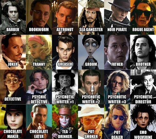The multiple faces of Johny Depp