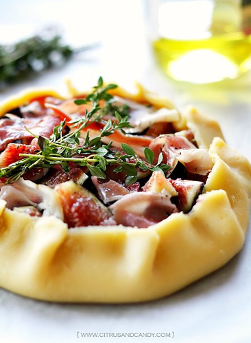 Fig, Prosciutto and Thyme Galettes