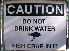 Do no drink water! - Pancartes et enseignes