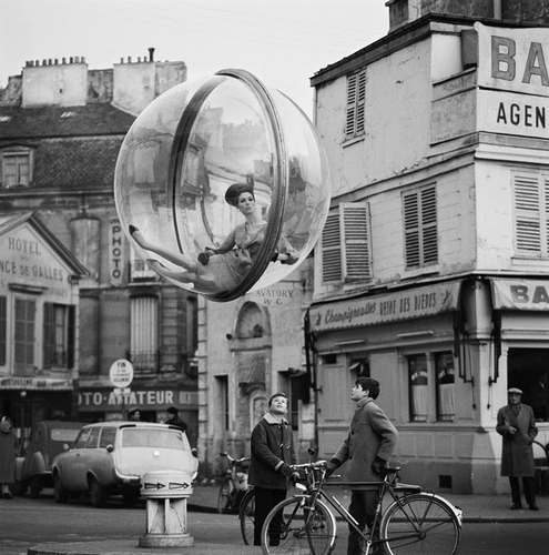 Bicycle Street Paris 1963@ Melvin Sokolsky