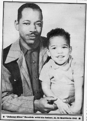 Baby Jimi #Hendrix with his father 1945 #Seattle