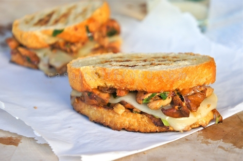 Chanterelle Mushrooms Sandwiches