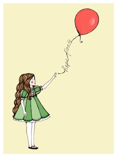 Hope Floats  in Butter Yellow by themeadowlark  #balloon