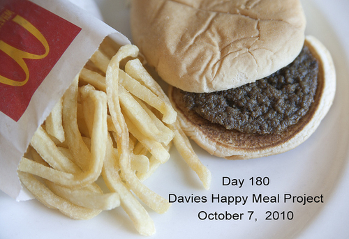 Day 180, 2010 Sally Davies Happy Meal Project
